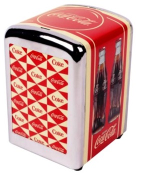 Coca Cola Retro Style Napkin Dispenser - NEW