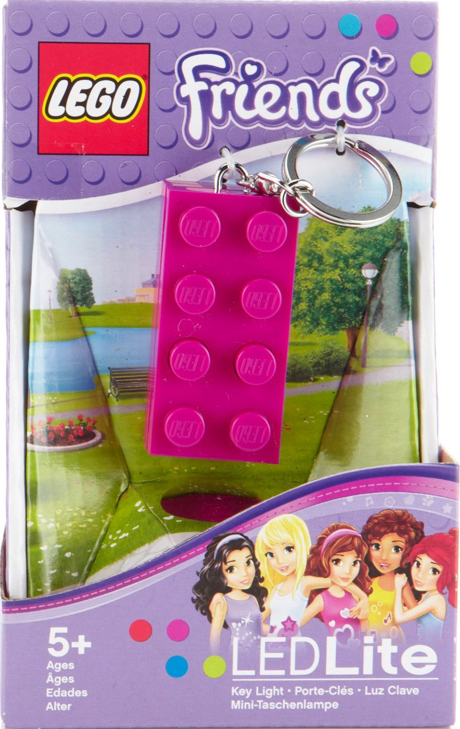 - LEGO Friends - LED Lite Key Light Keyring / Keychain - Pink - NEW