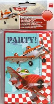 Planes - Invitations - Set Of 6 - Disney - NEW