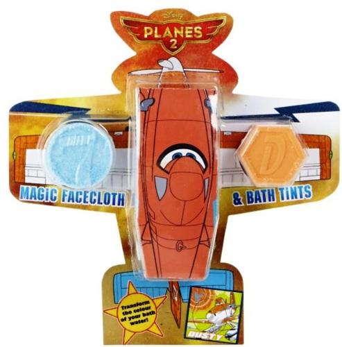 Planes 2 - Metallic Magic Facecloth And Fizzy Bath Tints - Pixar - NEW