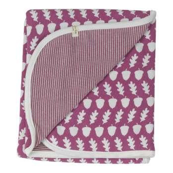 Acorn blanket raspberry