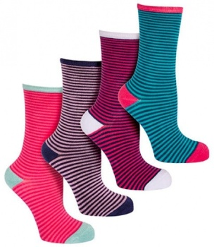 Women's Stripey Luxury Bamboo socks