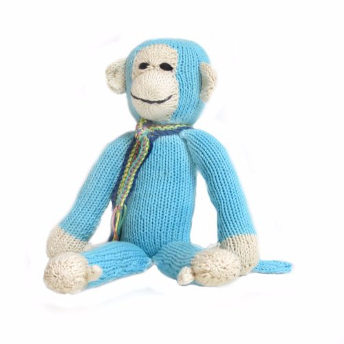 Blue Fairtrade Rainbow Monkey