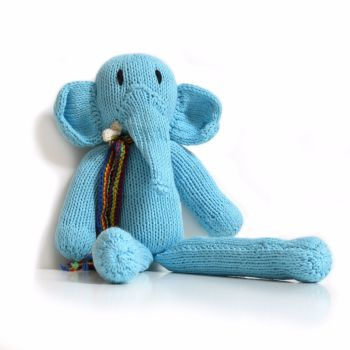 Blue Fairtrade Rainbow Elephant