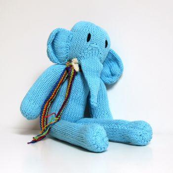 kids toy blue elephant