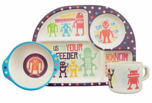 3 piece dining set: Robots!