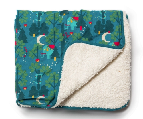 Midnight Jungle Sherpa Blanket