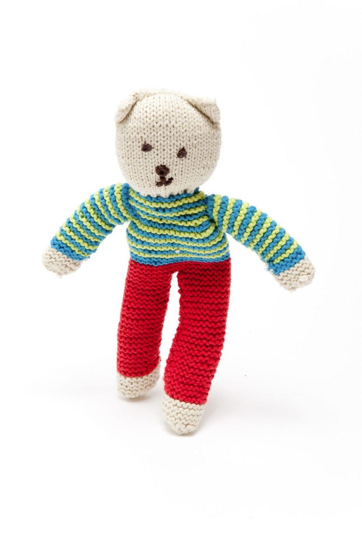 Fair Trade Crochet Cotton Teddy Bear, Harry Flipp