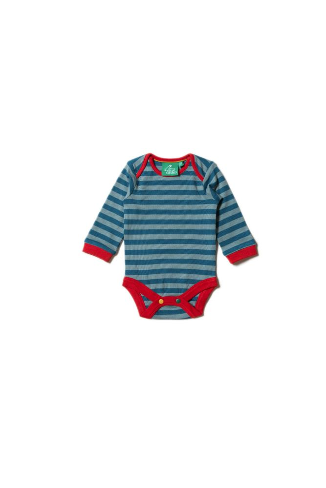 Teal and Still Water Blue Stripe Baby Body