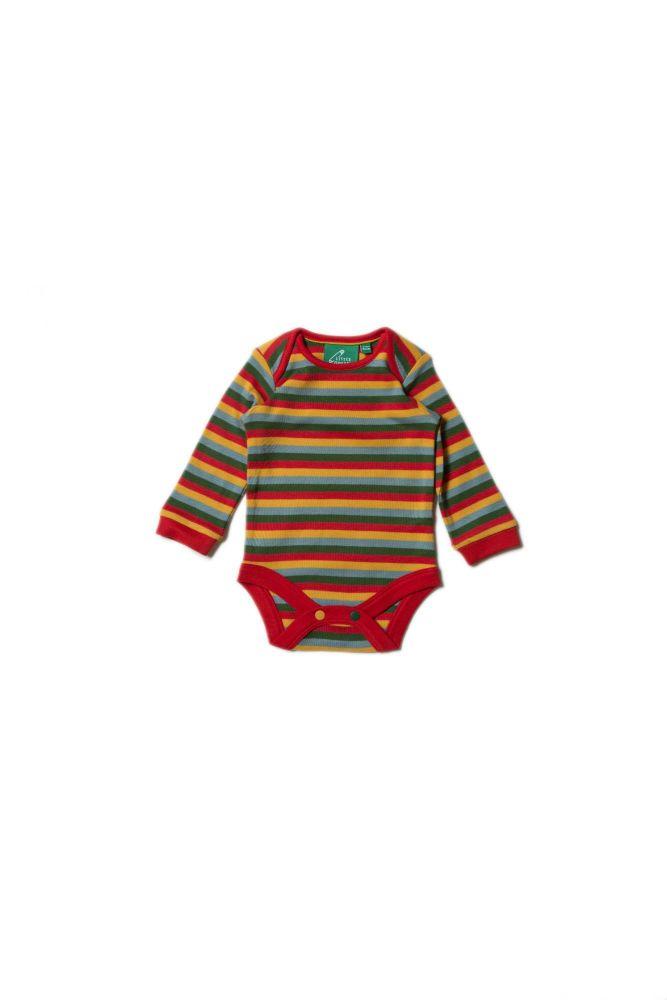 Turquoise & Rainbow Stripe Baby Body