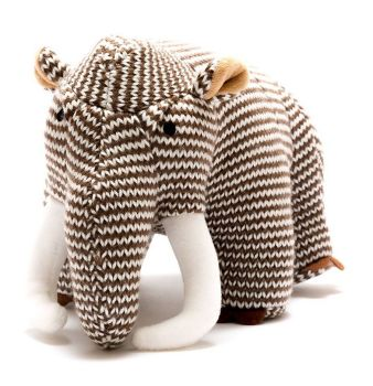 Knitted Brown Stripe Woolly Mammoth!