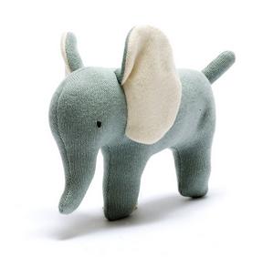 Organic Cotton Scandi Elephant Baby Toy