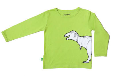 T-Rex print long sleeve T shirt