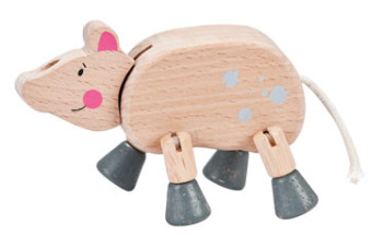 Fun size wooden farm animals
