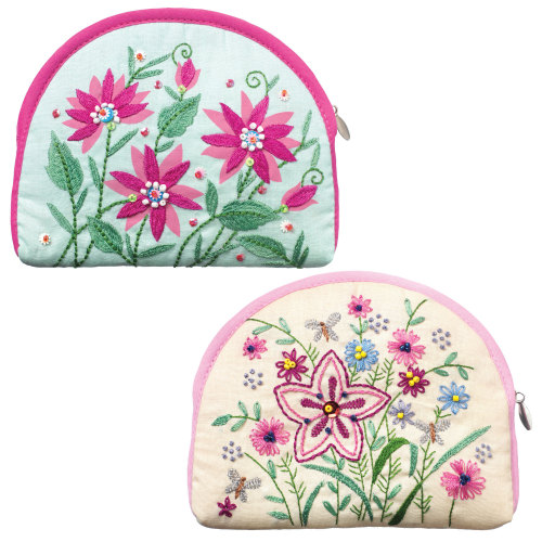Spring flowers purse