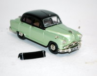 1956 Vanguard Phase II. Black over Jade green.