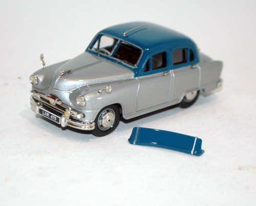 1956 Standard Vanguard Phase II. Blue over silver.
