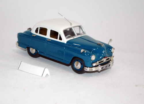 1956 Standard Vanguard Phase II. Old English white over blue.