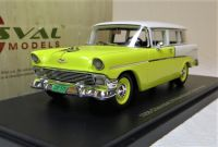 1956 CHEVROLET 210 HANDYMAN 2-DOOR STATION WAGON. LTD: 250. WHITE OVER YELLOW.