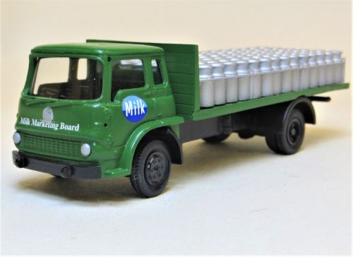 BEDFORD TK MILK MARKETING BOARD MILK LORRY WITH CHURNS.