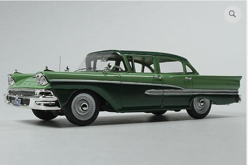GC 026B: 1958 FORD CUSTOM 300 4-DOOR, SEASPRAY GREEN/SILVERTONE GREEN.  BOU