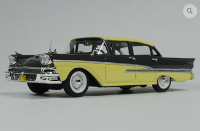 GC 026A: 1958 FORD CUSTOM 300 4-DOOR, GUNMETAL GREY/SUN GOLD.  BOUND TO SELL OUT - PRE-ORDER NOW!