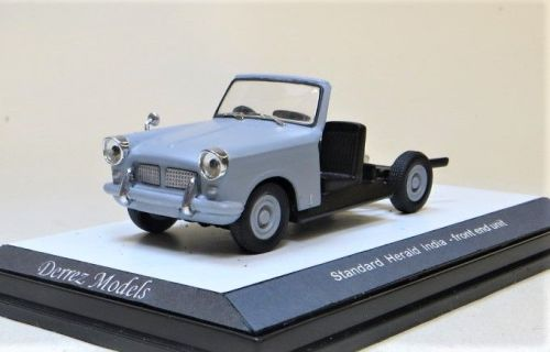 TRIUMPH HERALD CHASSIS CAB. INDIA. SCALE 1:43. MATTE GREY.