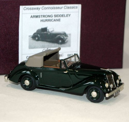 CROSSWAY CONNOISSEUR COLLECTION: ARMSTRONG-SIDDELEY HURRICANE. DARK GREEN/T