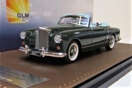 GLM MODELS: 1956 BENTLEY S1 OPEN DROPHEAD BY GRABER. 1:43 BRAND NEW. RESIN.