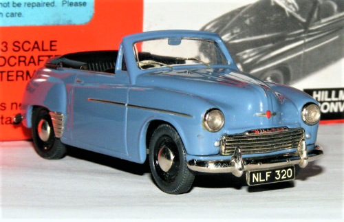 SOMERVILLE 1951 HILLMAN MINX MK IV OPEN CONVERTIBLE. 1:43. PRE-OWNED EXCELL