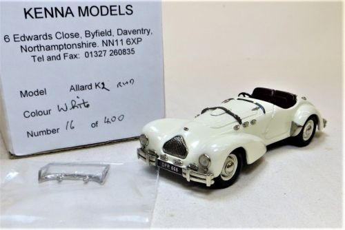 KENNA MODELS ALLARD K2 (SMALL GRILLE) OLD ENGLISH WHITE/BURGUNDY. SCALE 1:4