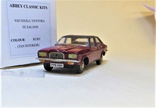 1973-74 VAUXHALL VENTORA FE. RUBY RED. SCALE 1:43.