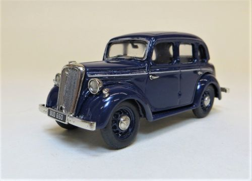 BHC 01: 1946-48 WOLSELEY EIGHT SALOON. HAND BUILT IN WHITE METAL. TRAFALGAR