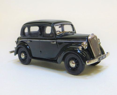 BHC 01: 1946-48 WOLSELEY EIGHT SALOON. HAND BUILT IN WHITE METAL. CONNAUGHT