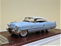 1956 CADILLAC SERIES 62 SEDAN DEVILLE, ALPINE WHITE OVER SONIC BLUE. LTD: 150.