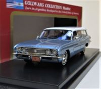 1962 BUICK SPECIAL STATION WAGON, WHITE OVER BLUE LTD: 200. BNIB