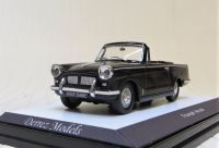 1967 TRIUMPH HERALD MK 11 OPEN CONVERTIBLE, BLACK WITH BURGUNDY RED INTERIOR, SOLID WHEELS ***SOLD***