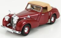 1949 TRIUMPH ROADSTER CLOSED CONVERTIBLE, BEIGE OVER RED.