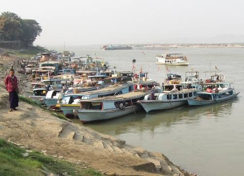 Irrawaddy boats