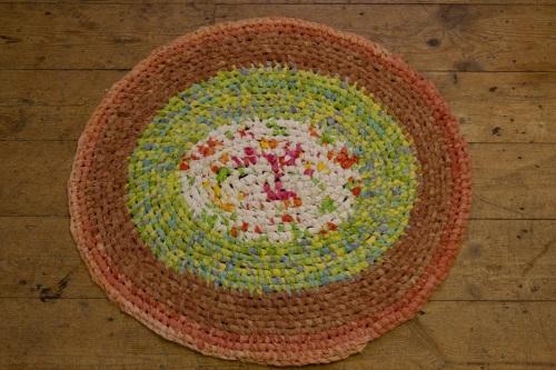Reclaimed textiles rug