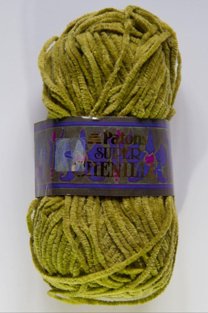 Patons Super Chenille Moss Green 50g