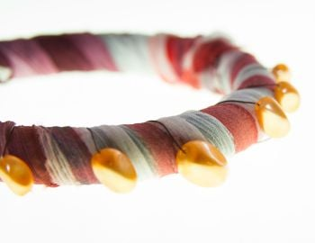 Bangle purple/terracotta