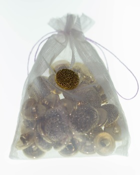 Gold Patterned Buttons