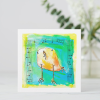 Music Bird Greeting Card