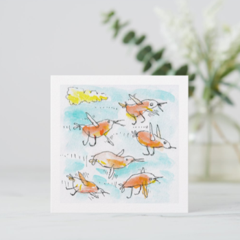Flock of Little Birds Greeting Card