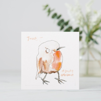 Christmas: Bolshy Robin Redbreast Christmas Card