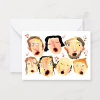 Christmas: Choir Singers Notecard