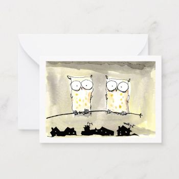Night Owls Notecard