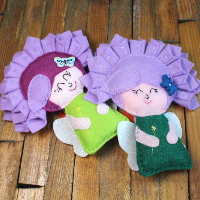 Flower Fairy with Purple Hair