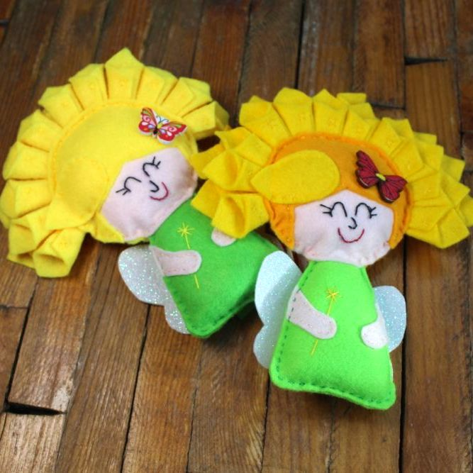 Flower Fairy with Yellow Hair